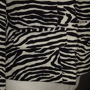 Bandolino Jackets & Coats - Bandolino Black White Zebra Print Blazer Jacket 8